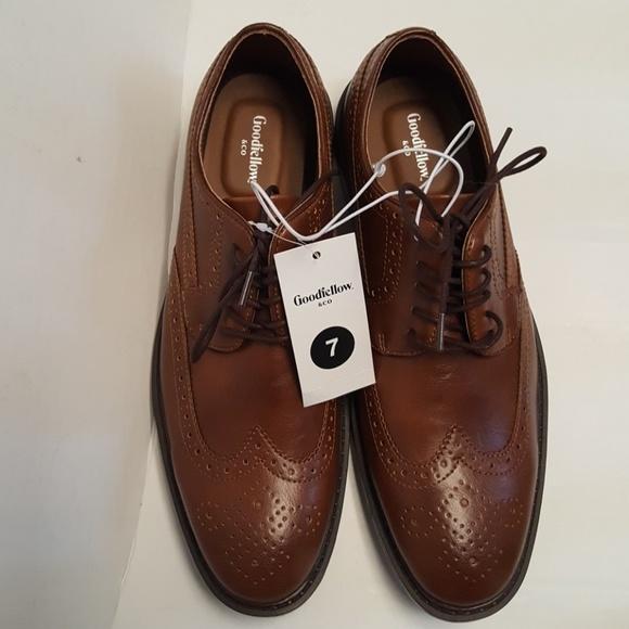 e728a3e7264e0 Goodfellow Tan Brown Jaylen Wing Tip Shoes